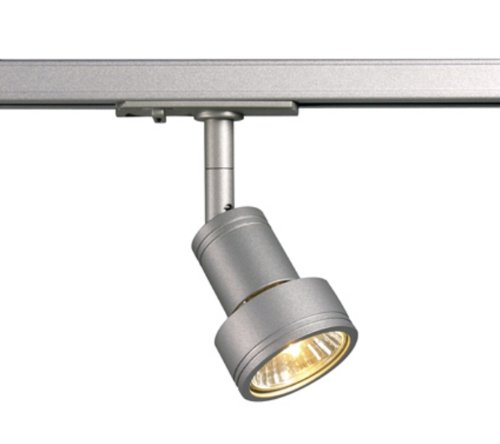 Strahler PURI, GU10 50W inkl. 1-Phasen-Adapter, silbergrau EEK: E - A++