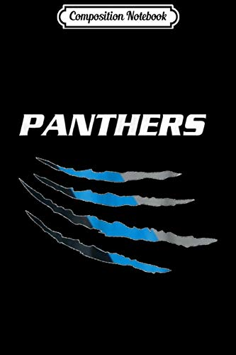Composition Notebook: Football fans premium (Panthers) 704 980 Journal/Notebook Blank Lined Ruled 6x9 100 Pages