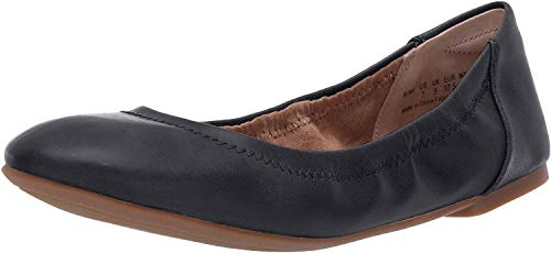 Amazon Essentials Women's Belice Ballet Flat, Navy, 7.5 B US