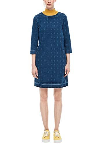 s.Oliver Damen Kleid, 55Z7 Blue Denim Stretch, 46