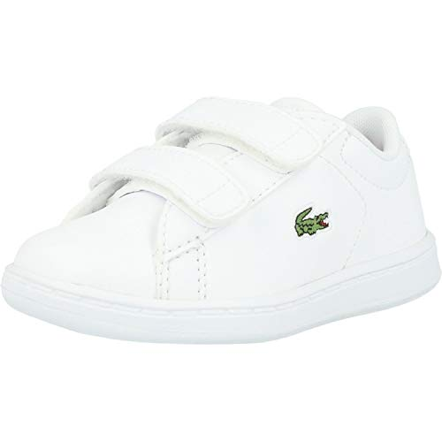 Lacoste Unisex-Child Carnaby EVO BL 2 Sui Sneaker, Weiß (B53 White/Pink), 27 EU