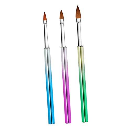 #N/a 3x Nail Art Brush Set Pinceles para Pintar Uñas Pincel Delineador Herramienta de Manicura DIY