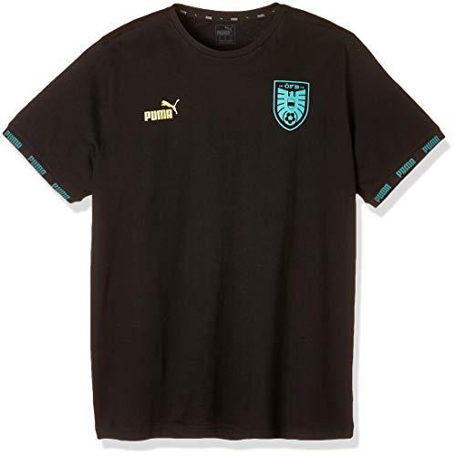 PUMA Herren ÖFB FtblCulture Tee T-Shirt, Black, S