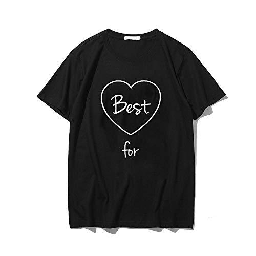 Women T-Shirts Neue Frauen T-Shirts Für Immer Tops Für Immer Freunde T-Shirts Niedlichen Alphabet Buchstaben Druck Mädchen Punk Kleidung Schwestern T-Shirts M Hei01