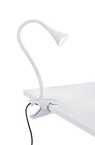 Reality Leuchten R22398101 Viper A++, LED Klemmleuchte, Metall, 3 W, Integriert, Weiß, 33 x 6,2 x 35 cm