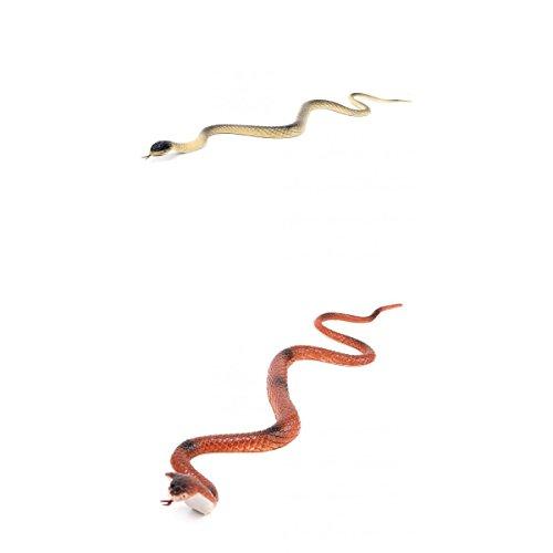 Generic 18 Pulgadas Orange Royal Serpiente Y Patrón de Serpiente Beige Juego de Juguete de Truco Parecido