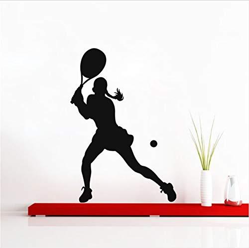 Prostituta jugador de tenis pegatinas de pared deportes gimnasio mural arte pegatinas de pared sala de estar dormitorio decoración tatuajes de pared 42x60 cm