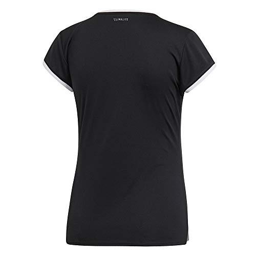 adidas Club 3 STR Tee, T-Shirt Donna, Black, L
