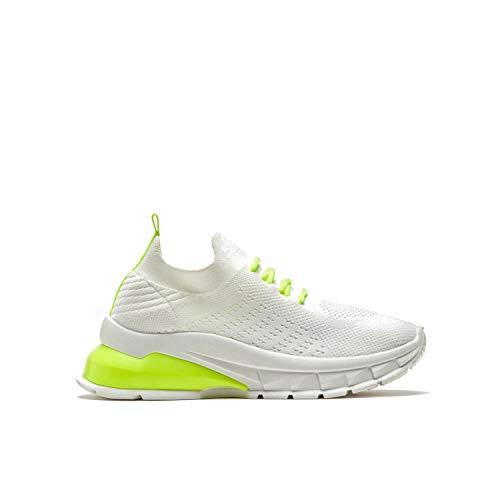 BATA Zapatillas de punto para mujer, Color blanco., 37 EU