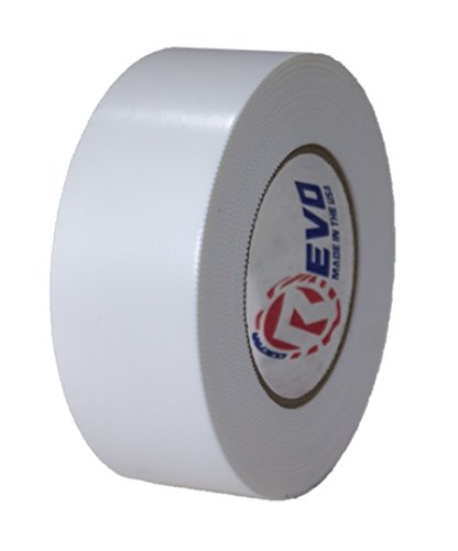 """REVO Preservation Tape/Heat Shrink Wrap Tape (2"""" x 60 Yards) Made in USA (White) Poly Tape - Electrical Tape - Boat Storage Tape (PINKED Edge) Single ROLL (Economy: 7.5 MIL Thickness)"""