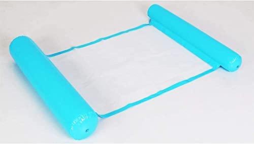 QUQU Adulto Plegable Piscina Hamaca portátil Flotante Inflable Tumbona Piscina Anillo adecuados el Agua Recreación Summer Beach Party al Aire Libre, Color: Naranja (Color : Blue)