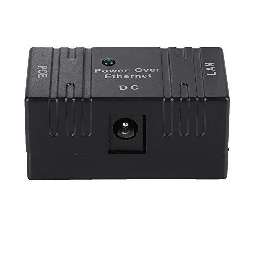 Combinador de POE, conector RJ45 universal seguro inteligente de plástico duradero, firme, resistente, equipo de intercomunicación para el hogar, cámara POE, control de acceso(black)