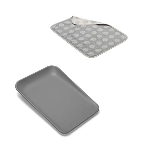 Leander Matty Wickelkissen in der Farbe dusty grey + Topper in der Farbe cool grey