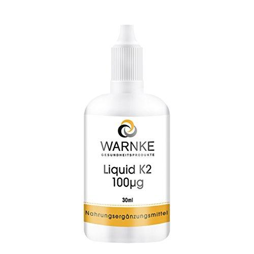 Vitamin K2 Tropfen 100μg - Menachinon MK-7 - all-trans - 30ml - Hergestellt in Deutschland