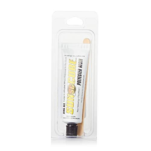 Ding All Sun Cure Kit para reparación de tablas de surf rellenas de fibra de poliéster, 28g, color transparente
