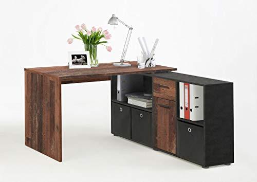 Wohnorama LEX Winkelschreibtisch von FMD Old Style dunkel/Matera i by