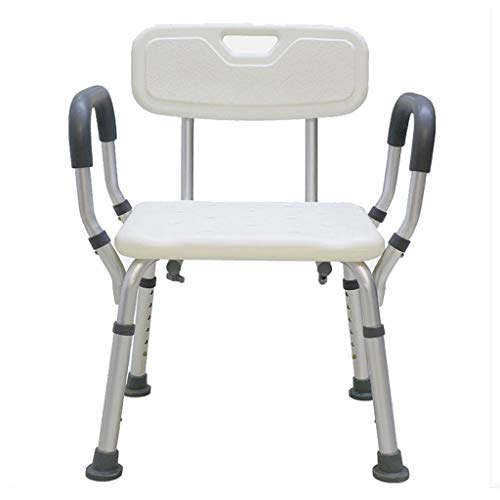 Bath Chair Shower Stool Disabled Shower Seat, Height Adjustable Elderly Pregnant Woman Child Bathroom Bath Stool Non-slip Aluminum Alloy Frame Safety Bath Chair Shower Stool Bathroom Wheelchair Aids A