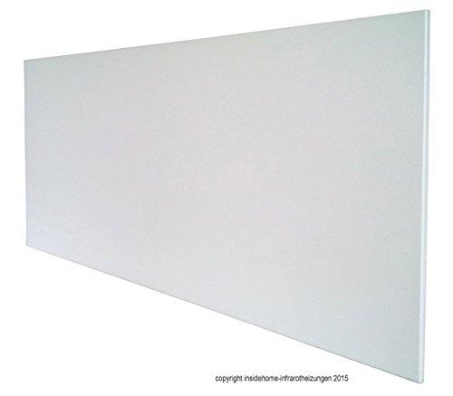 insidehome Infrarotheizung PREMIUM, rahmenlos - weiss, 900 Watt, 120x60x1,5 cm