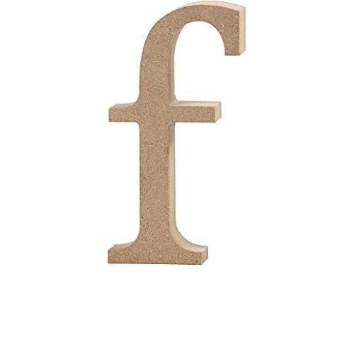 Lettre, h: 13 cm, MDF, f, 1 pièce