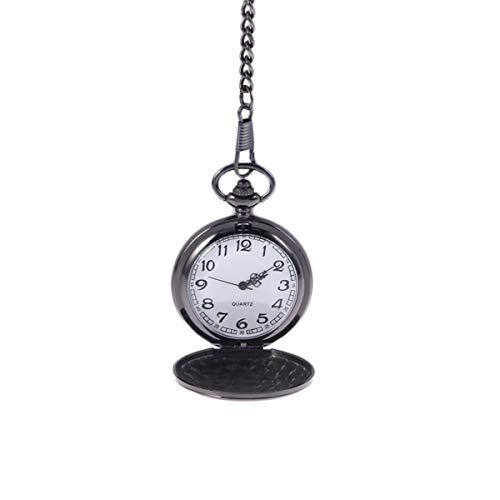 UKCOCO Reloj de Bolsillo con Cadena Reloj de Bolsillo Clásico para Graduación de Navidad Regalos de Cumpleaños Día del Padre Reloj con Números Árabes Reloj de Hombre con Caja de Regalo