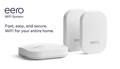 Amazon eero Pro mesh WiFi system (1 Pro + 2 Beacons) 11 Whole-home WiFi system - The Amazon eero Pro mesh WiFi system (3 eero Pros) replaces the traditional WiFi router, WiFi extender, and internet booster by covering a 5+ bedroom home with fast and reliable internet powered by a mesh network. eero 2nd generation - With the most intelligent mesh WiFi technology and powerful hardware, the eero 2nd generation WiFi system is 2x as fast as the original eero WiFi. Backwards compatible with 1st generation eero products. Cutting edge home WiFi - Unlike the common internet routers and wireless access points, eero automatically updates once a month, always keeping your home WiFi system on the cutting edge.