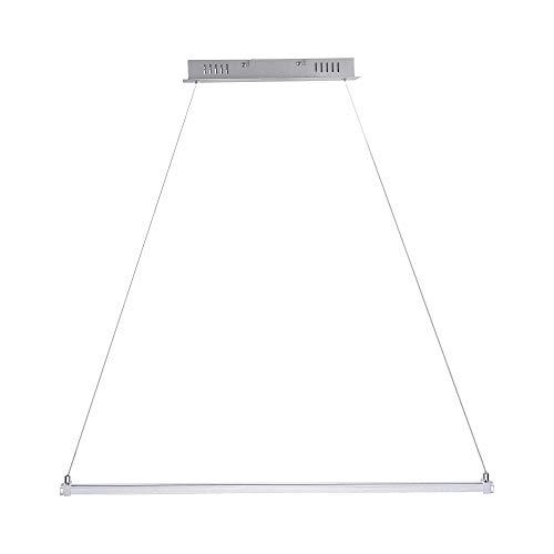 LED-Hängeleuchte ausziehbar | Leuchte aluminiumfarben | Pendellampe modern | Pendelleuchte inklusive 2x LED 11,5 Watt | Lampe + gratis LED-Taschenlampe