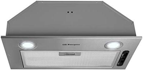 Orbegozo CA 07260 A IN - Campana extractora cassette, 52 cm, acero inoxidable, extracción: 289.7 m3/h, 3 niveles de potencia, 65 W