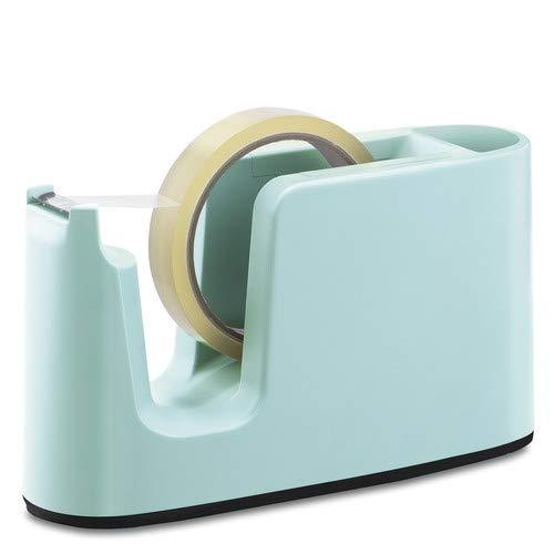 プラス テープカッター テープ交換簡単 ミントブルー TC-401 【まとめ買い3個セット】