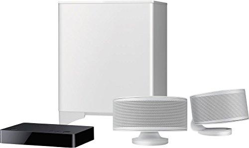 Onkyo Ls-3200 Sistema Audio, DTS Studio Sound, Dolby Digital, Bluetooth, Subwoofer Wireless, Bianco