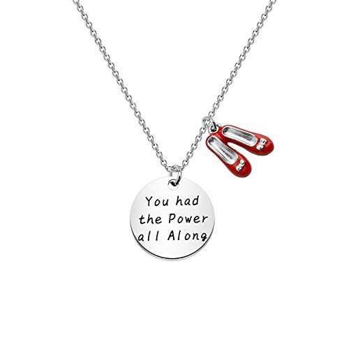 Good Witch Quote You had the Power all along Bracelet Fandom Jewelry Inspirational Gift silver