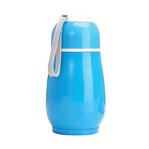 junshi11 300ml Portable Coffee Cup Vacuum Insulated Flask Tea Water Cup Thermal Jug Travel Mug Gift Blue