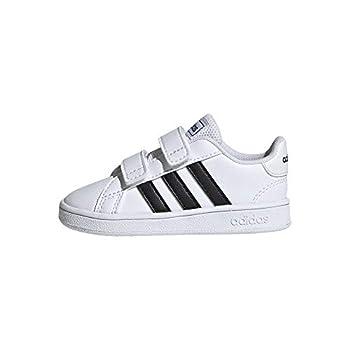 adidas Baby Grand Court Sneaker Black/White 9K M US Toddler