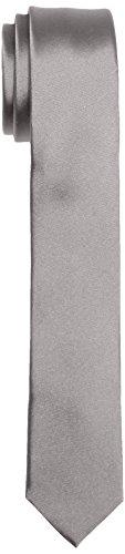 Calvin Klein TREND SLIM 5 cm Cravate, Gris (Platinum 850), Taille unique Homme