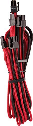 Corsair Premium Sleeved kabel 6 + 2 pin PCIe Dual rood/zwart