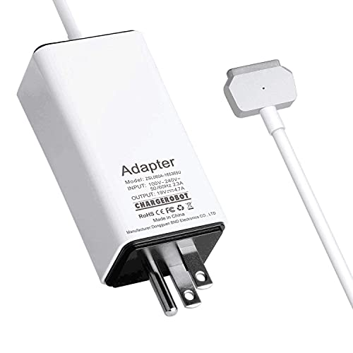 85W Charger for MacBook Pro 15 inch Retina(Mid 2012 to Mid 2015), Replacement for Magnetic 2 A1398 A1424 Power Adapter