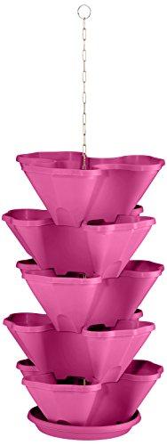 Plastkon étage Fleurs Support et étage Pots de Fleurs Suspendus trelista 5 Animal, Fuchsia/Rouge