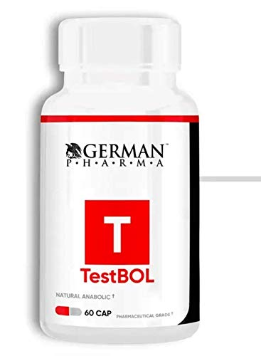 GERMAN PHARMA TESTBOL - Test Booster - Natural Testosterone Supplement for Men