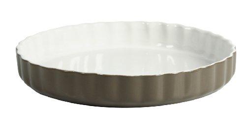 Crealys 512736 Quicheform, Keramik, 28 cm, Taupe