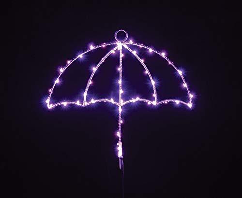 Lyyt hanglamp met LED-silhouet, met sleutelhouder, paraplu violet UMB-P