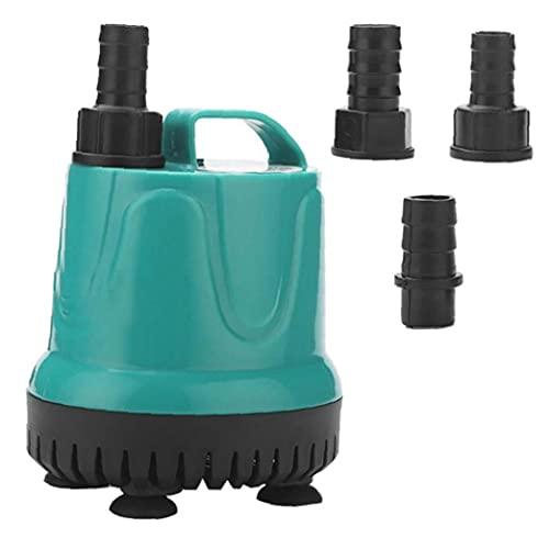 NaiCasy Bomba de circulación de la Bomba de Agua Sumergible con 3 boquillas para el jardín Drenaje Acuario Fish Tank Fuente Estanque 8W
