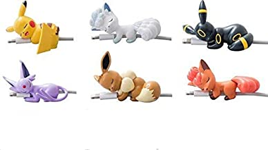 Cartoon Animal Bite Cable Pet Protector-6 Creative Cute Anime Charger Pet Saver Buddies (Compatible with iPhone Cords Only).Cup Edge Figure,Gift for Friends and Children