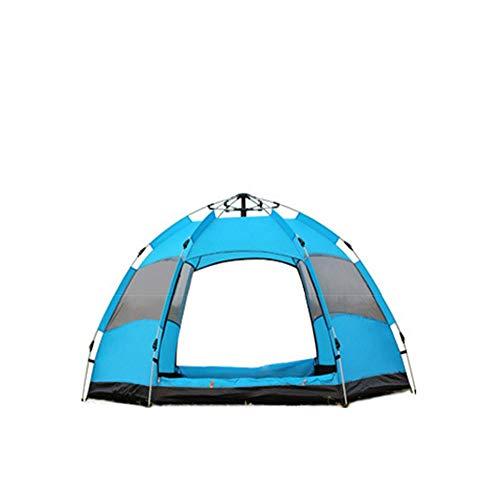 LIYANG Carpa para Camping Double Deck Hexagonal Carpa Completamente automático al Aire Libre a Prueba de Lluvia 5-8 Personas acampando Fast Abierto Beach Adecuado para Viajes Camping Senderismo