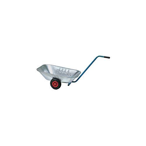 Transportwanne - Luftgummiräder 200 x 50 mm, Stahlblech verzinkt - Schubkarren Einradkarren Schubkarren Einradkarren