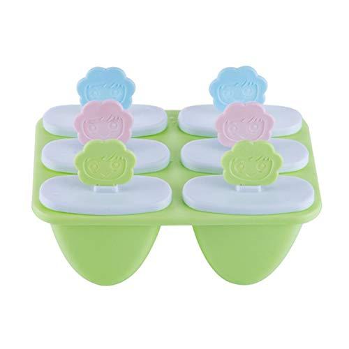 Ijs Lolly & Ijs Mallen Ijs Pop Mallen Voor Babyvoeding Voor Vriezer Zomer Gift Food-Grade Cool green