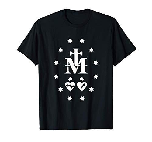 Virgen María Medalla Milagrosa Católica Camiseta