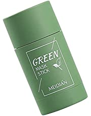 Green Tea Purifying Clay Stick Mask, Moisturizes Oil Control, Deep Cleansing Smearing Clay Mask, Deep Clean Pore, Improves Skin,for All Skin Types Men Women