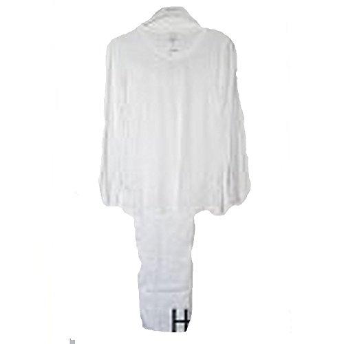 Hanro Damen Schlafanzug 2 teilig Long Sleeve Pyjama 7644 Pure Affair 100% Baumwolle Weiss L