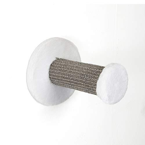 CanadianCat Company ® | Kletterstufe zur Wandmontage | ca. 18 x 22 cm | grau-weiß