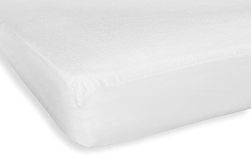 Huis en decoratie molton matrasbeschermer hoeslaken matras waterdicht hoeslaken katoen wit modern 70x140 cm wit