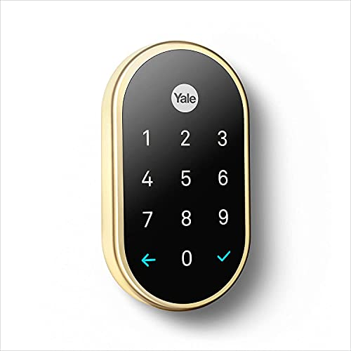 Yale Yale secure lock, tamper-proof, key-free deadbolt that connects to nest app, lock and unlock your door from anywhere (polished brass), 3 Pound